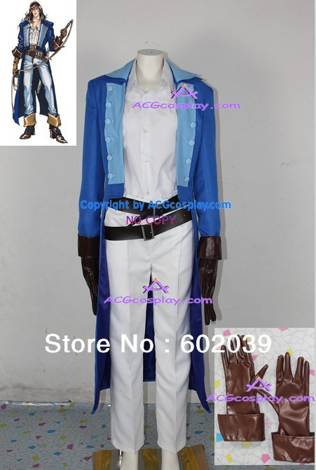 Castlevania Richter Belmont Cosplay Costume comprend faux gants en cuir BONNE qualité ACGcosplay