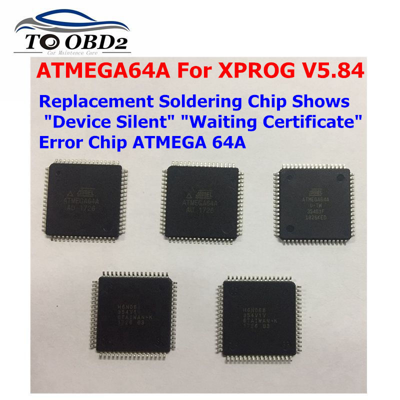 New Original ATMEGA64A Atmagea64a For XPROG V5.84 Replacement Soldering Chip Shows