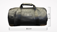 Retro Solid Pu Leather Male Bag Large Capacity Carry On Luggage Bags Portable Leisure Multifunction Travel