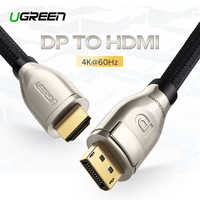 Ugreen Displayport to HDMI Cable 4K 60Hz DP to HDMI 2.0 Adapter For Projector GTX 1060 Lenovo Laptop Display Port HDMI Cable
