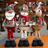 Christmas Tree Decor New Year Ornament Reindeer Snowman Santa Claus Standing Doll Home Decoration Merry Christmas Height 48cm