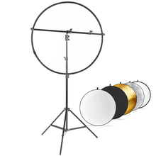 Photo Studio 31 inch 5-in-1 Collapsible Multi-Disc Lighting Reflector Diffuser Kit Includes 2m Light Stand Reflector Support Arm 2016 sale meking pro studio photo reflector holder swivel head arm bracket arm support without light stand and reflectors