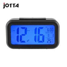 Luminous mute alarm clock photosensitive electronic large screen snooze