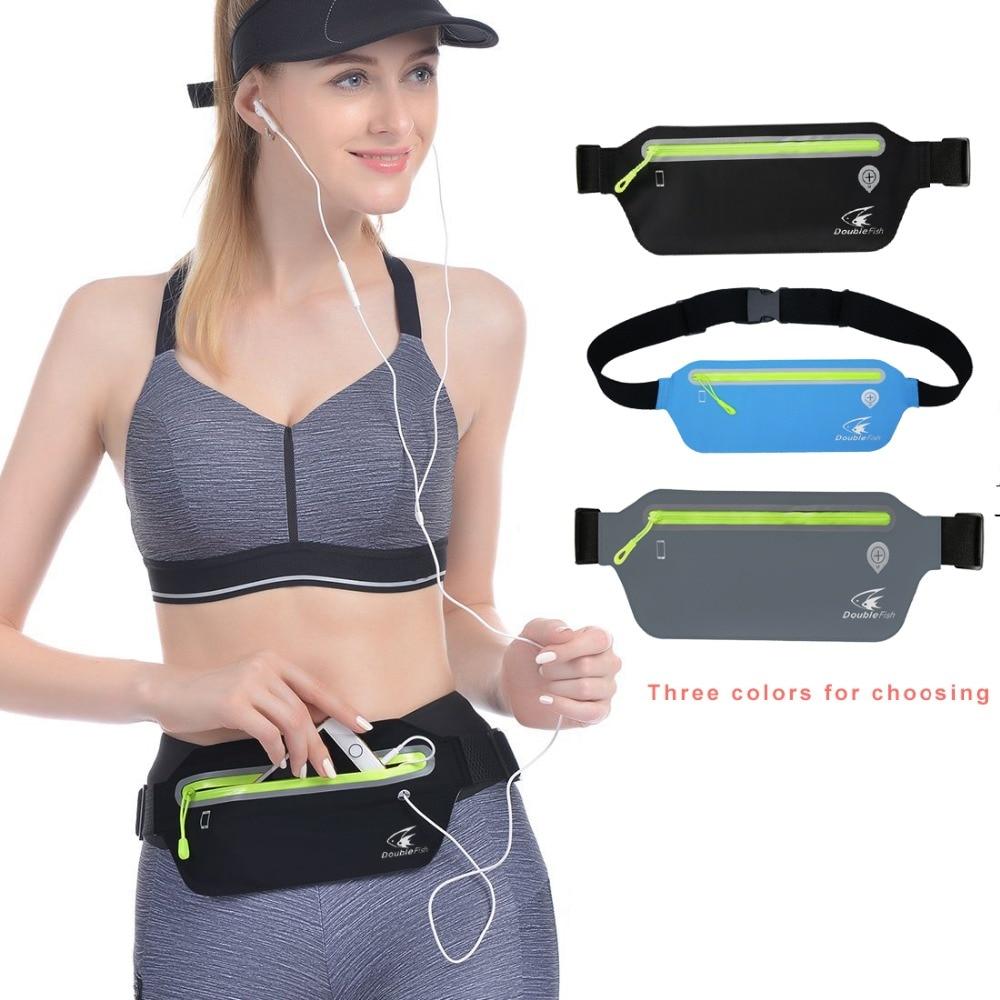 Купить с кэшбэком 2pcs running bag waist bag waterproof jogging running waist bag for 5.5  6.5 inch phones Running Case cell phones
