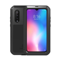 360 Design Shockproof for Xiaomi Mi9 Case Global Metal Aluminum Glass Hybrid Phone Cases for Xiaomi 9 Cover Armor Luxury 6.39