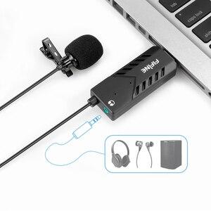 Image 5 - FIFINE Lavalier Clip on kardioidalny komputer pojemnościowy mikrofon plug and play mikrofon USB z kartą dźwiękową na PC i Mac  K053