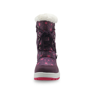 Image 3 - Apakowa Winter Girls Mid Calf Plush Snow Boots Little Princess Outdoor Durable Boots with Zipper Toddler Kids Anti slip Shoes