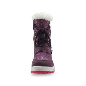 Image 3 - Apakowa/Зимние плюшевые зимние сапоги до середины икры для девочек уличные Прочные ботинки принцессы на молнии для маленьких детей, нескользящая обувь, снегоступы детские, зимние сапоги для девочек, ботинки детские