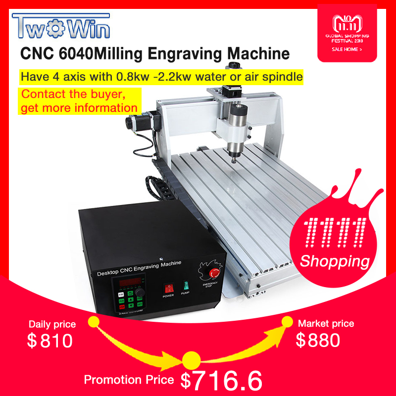 цена на 800W/1.5KW CNC 6040 3 axis CNC router CNC wood carving machine USB Mach3 control Woodworking Milling Engraver Machine