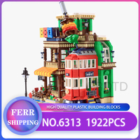 WANGE 6313 ideas series the BBQ Restaurant Model Building Blocks Compatible with legoing Classic Architecture Toys for children