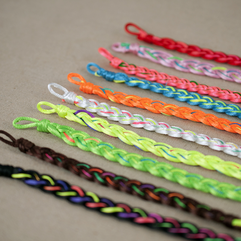ABL053 120 Wide Brazilian Colorful Rainbow Handmade Cord Weave Braided Rope String Strand Friendship Couple Bracelet