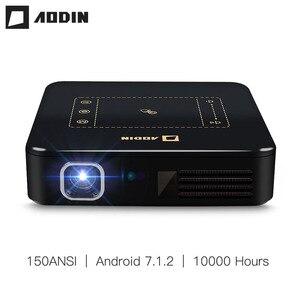 AODIN Android 7,1 карманный мини-проектор D13 4K умный тачпад Pico портативный проектор светодиодный wifi Bluetooth 8000mAh аккумулятор домашний кинотеатр