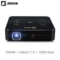 Aodin Android 7,1 карманный мини проектор D13 4 К умная сенсорная панель Пико DLP Портативный светодио дный WI FI Bluetooth 8000 мАч Батарея дома Театр