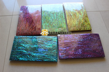 5 colors green red blue yellow purple abalone shell paper paua shell laminates 140x240x0.2mm for guitar inlay 20pcs/lot