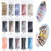 BlueZoo 20 Sheets Pack Nail Foils Transfer Sticker Nail Art Decals Leopard Flower Starry Sky Fashion