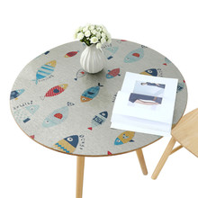 Cartoon  style Soft glass PVC plastic round tablecloth waterproof oilproof Heat resistant table mat party decoration
