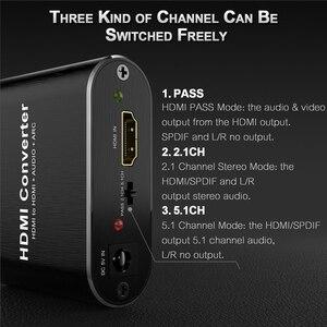 Image 5 - 4K 60Hz HDMI Audio Extractor 5.1 ARC HDMI Audio Extractor Splitter HDMI To Audio Extractor Optical TOSLINK SPDIF + 3.5mm Stereo