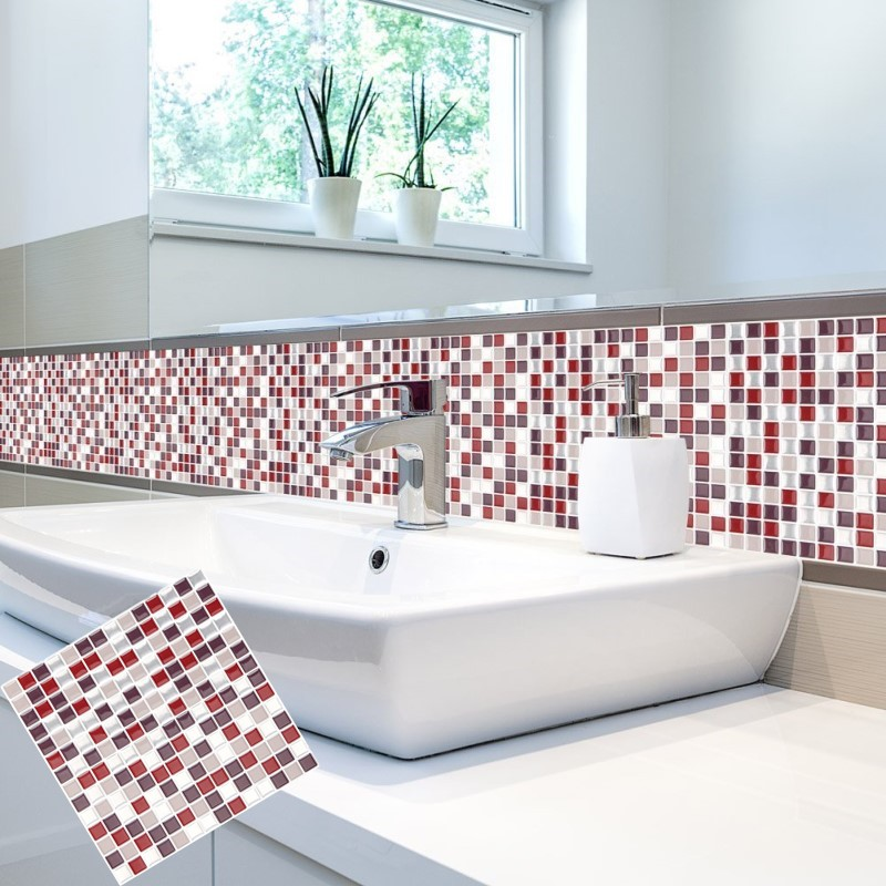 Self Adhesive Bathroom Wall Tiles: Self Adhesive Mosaic Tile Wall Decal Sticker DIY Kitchen
