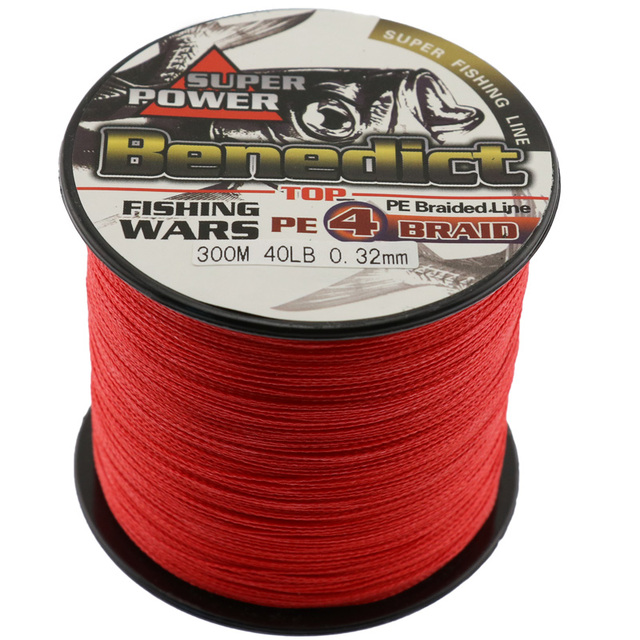 Special Price 300M/328yards super Pe braided fishing line spectra red fresshwater&seawater fishing rope strong fishing wires 4strands  6-100LB