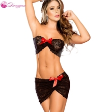 goorselent sexy Lace lingerie Temptation babydoll bow Erotic underwear plus size dance Sexy costumes