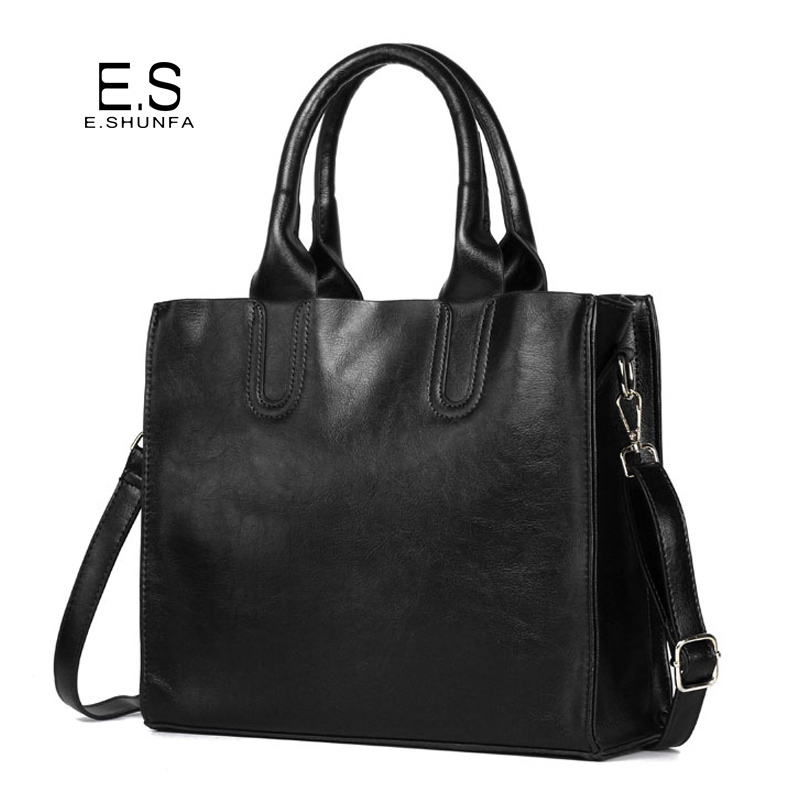 Women PU Leather Handbags 2017 New Fashion Tote Hand Bag Black Brown Gray Casual Shoulder Bag Woman Handbag Large Capacity fashion star 2017 new fashion women s hand recliner leather bag female casual style