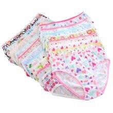 Cotton Panties Briefs Short Children Underwear Baby-Girls Kids Solid Pink 6pcs/Pack Newest