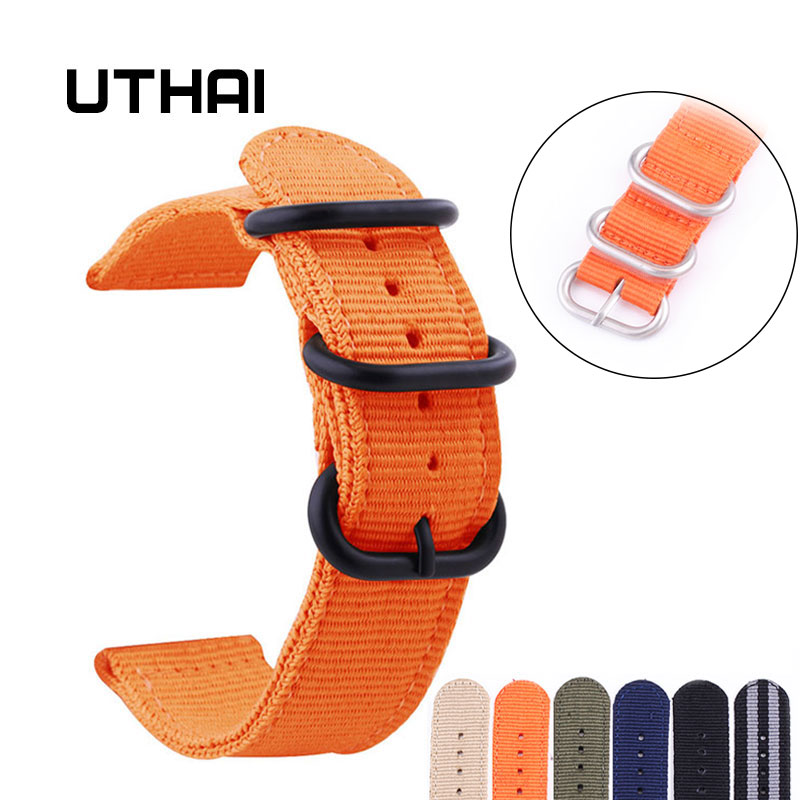 UTHAI P13 Nylon 20mm Strap 24mm Watch Band