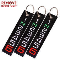 3PCS Remove Before Flight Key Chain 6 5 4 3 2 1 Embroidery Motorcycles Ring Bijoux chaveiro para for Cars Gifts Tag