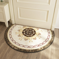 Semi circular Carpet Nordic Household Short Velvet Door Entry Entrance Absorbent Floor Mat