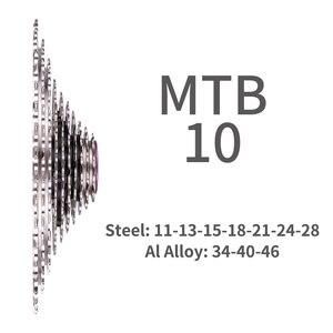 Image 3 - ZTTO MTB 10 hız SLR bisiklet kaset 11 46T geniş oranı CNC Ultralight Freewheel dağ bisiklet 10 S dişli X0 X9 M610 M781