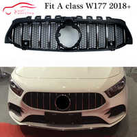 New W177 Front Bumper Grill AMG Front Grille Mesh for Mercedes A class W177 2018+ A180 A200 A250 A45 AMG Front Racing Hood