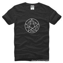 Wicca Witch Pagan Magic Pentacle Circle Star Pentagram Supernatural Printed Mens Men T Shirt T-shirt Cotton Camisetas Hombre