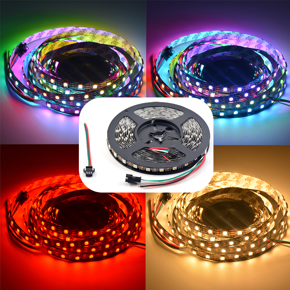 1m/4m/5m 30/60/144 Leds/pixels/m Individual Addressable Ip30/ip65/ip67 Dc5v Relieving Rheumatism And Cold similar Ws2812b Sk6812 Rgbw Wwa 4 In 1 Led Strip