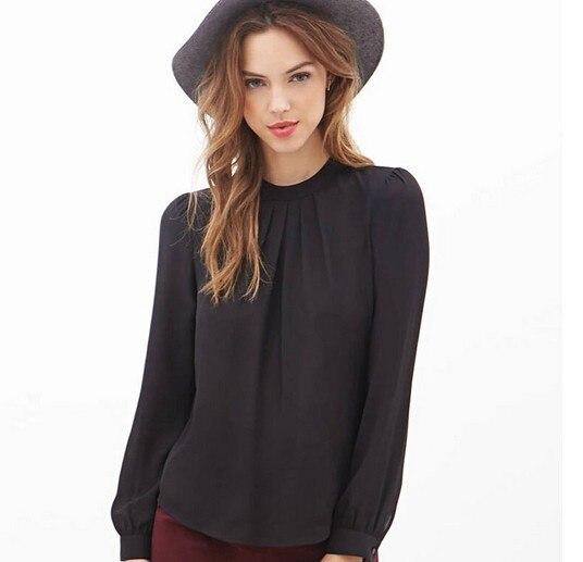 XXL Mode Neue 2016 Frauen Mode Gefaltete Sexy Aushöhlen Chiffon - Damenbekleidung - Foto 2