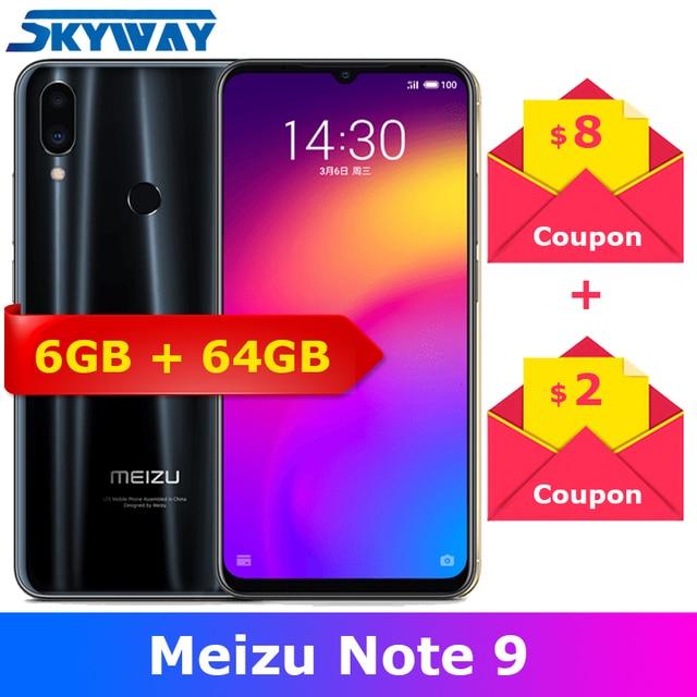 "Meizu Note 9 4G LTE 6GB RAM 64GB ROM Snapdragon 675 Octa Core 6.2""2244x1080p Screen 48.0mp Camera Fingerprint Cell Phone"