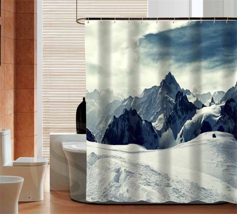 CHARMHOME Home Decoration Mountain Custom Shower Curtain Bathroom Eco  Friendly Waterproof Various Sizes(China