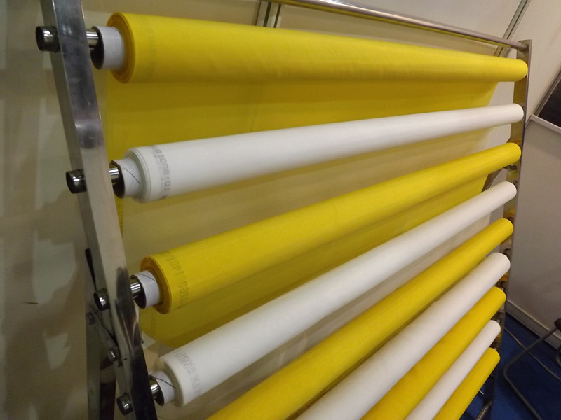 free shipping ! higher quality Yellow 120T-34um-165cm-50mts 100% polyester fabric stretch mesh for printing