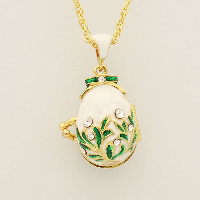 Aliexpress buy new vintage white enamel crystal pendant aliexpress buy new vintage white enamel crystal pendant necklace easter eggs fit european luxury brands necklaces christmas gifts from reliable negle Image collections