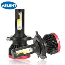цена на ASLENT 2X H4 LED Car Light Bulbs H7 H1 H11 H8 H9 9005 HB3 9006 HB4 H3 Headlight Bulb 6500K LEDs COB Fog Headlamp Lights 12V