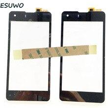 Esuwo новый сенсорный экран для highscreen omega prime s дигитайзер сенсорный экран сенсорный замена стеклянной панелью бесплатно отслеживания + 3 м лента