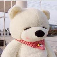 lovely bear toy plush toy cute sleeping stuffed bear toy teddy bear birthday gift white 100cm