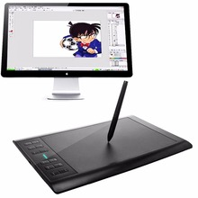 HUION 1060 PRO+ 10 x 6 inch Big Active 2048 Levels 5080 LPI Resolution Graphic Drawing Tablet Board with Digital Pen(China (Mainland))