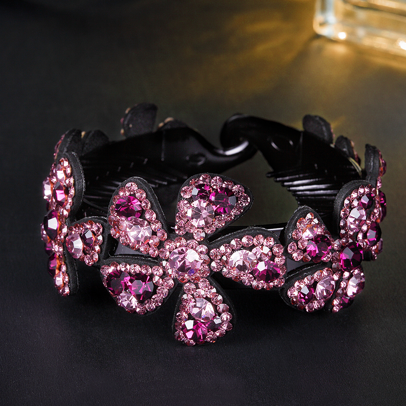 CHIMERA Rhinestone Hair Claws Hair Accessories Jewelry for Women Girls Hair Bun Holder Styling Tools Purple Twist Hair Clips 1pcs crystal bowknot hair clips for girls rhinestone decorattion hairpins styling tools barrette braiding accessories hair pins