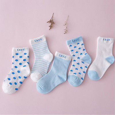 5 Pairs Socks Set Baby Boy Girl Cotton Cartoon Candy Colors Socks NewBorn Infant Toddler Kids Soft Sock
