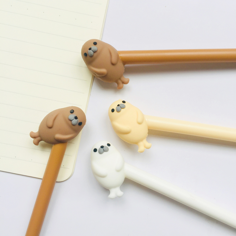 1X Cute Otter Gel Pen Writing Stationery School Office Supply 0.5mm Black Ink