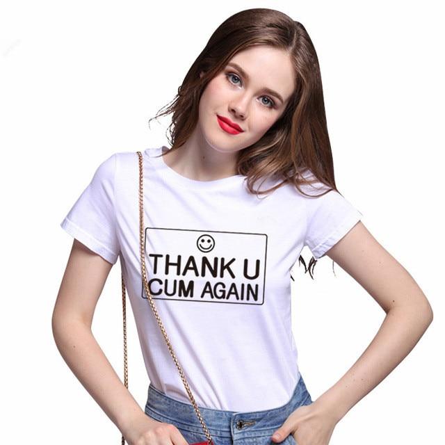 Cum on shirt woman