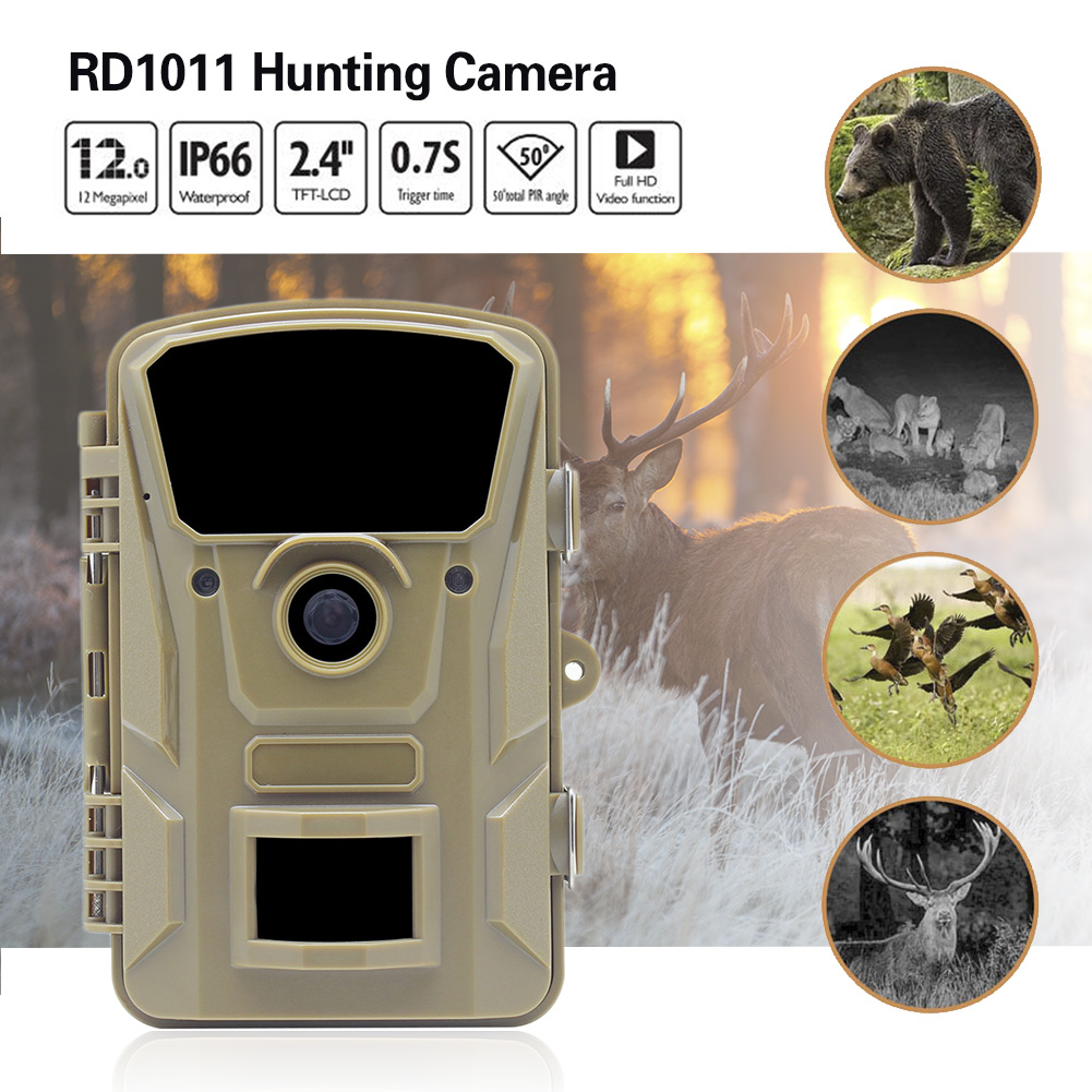 цена на RD1011 Waterproof Hunting Camera Megapixel 1080P HD video IR Night Vision Surveillance Wildlife Trail Camera