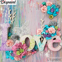 Dispaint Full Square/Round Drill 5D DIY Diamond Painting Flower Love scenery 3D Embroidery Cross Stitch Home Decor A12877