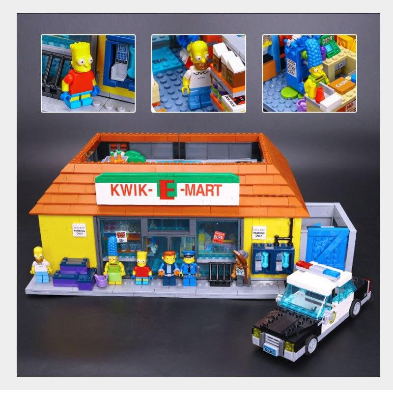 New LEPIN 16004 2232Pcs the Simpsons KWIK-E-MART Action Model Building Block Bricks Compatible 71016 Boy Gift neue lepin 16004 2232 stucke die simpsons action modell baustein ziegel kompatibel 71016 fur kinder geschenk