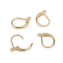 5 шт./компл. высокое качество гипоаллергенные серьги крючки левербэк ушные провода наушник покрытие из нержавеющей стали золото для женщин Подарки